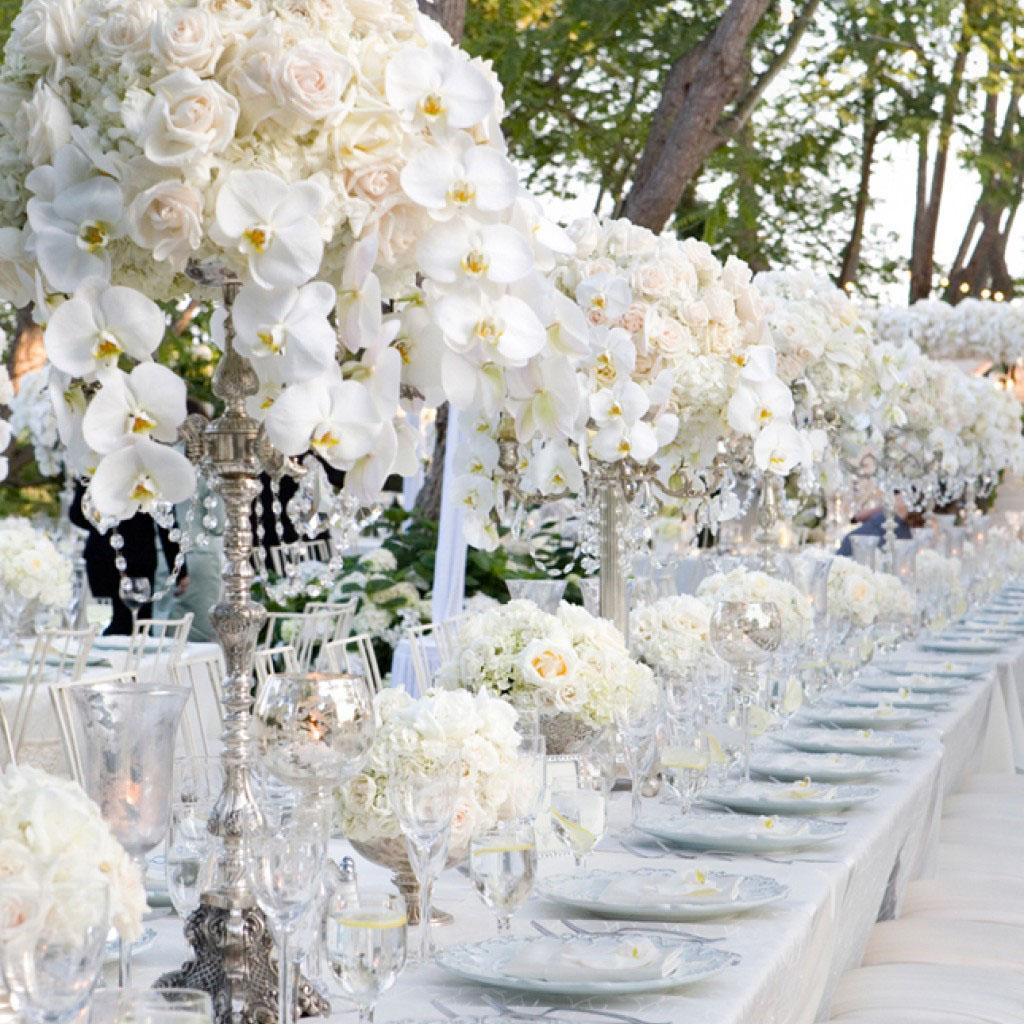 Nozze in bianco: il matrimonio total white
